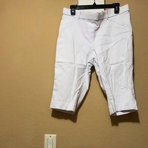 White Rafaella comfort dressy shorts